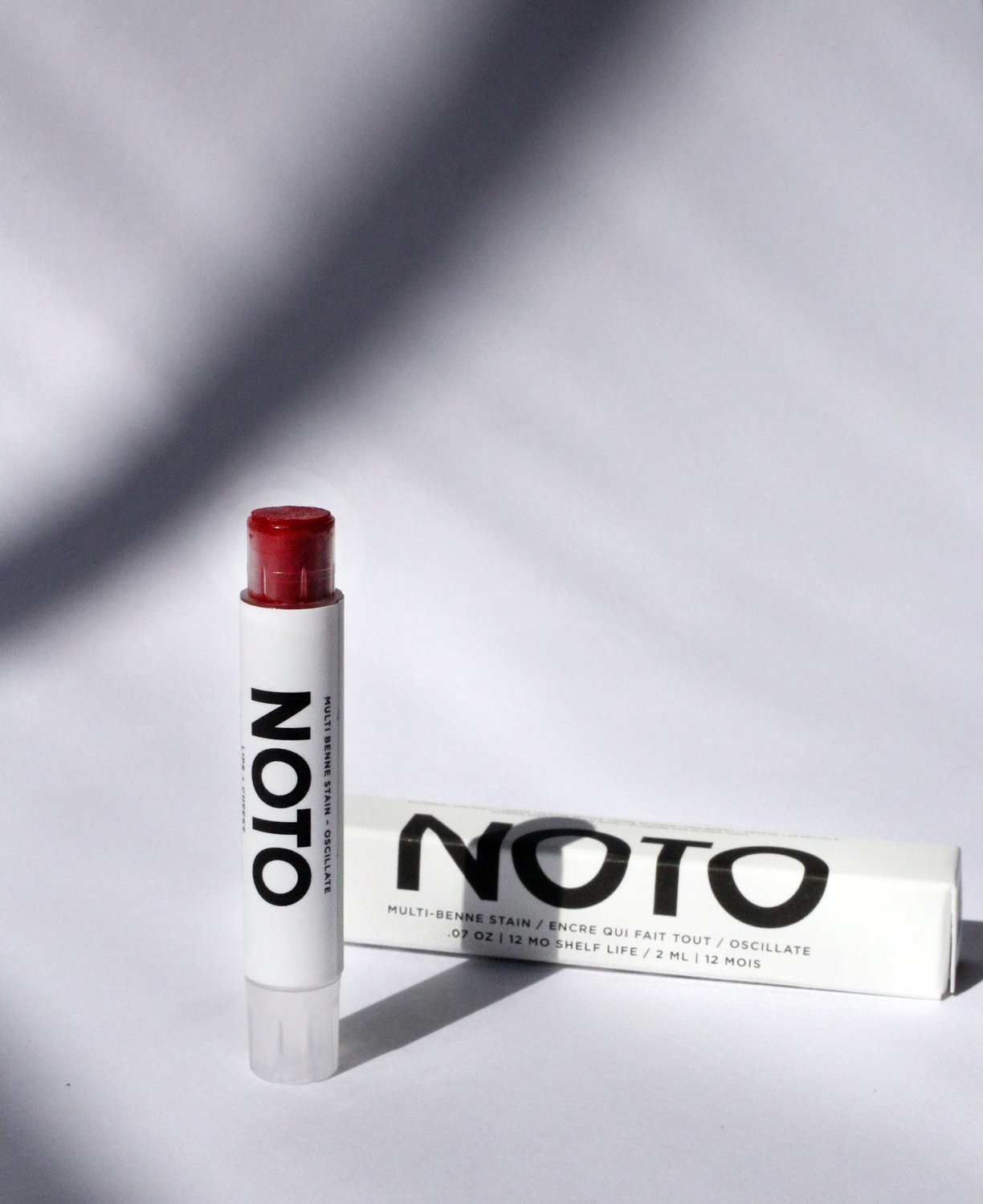 NOTO Multi-Benne Stain Stick in Oscillate. Available at EASE Toronto.