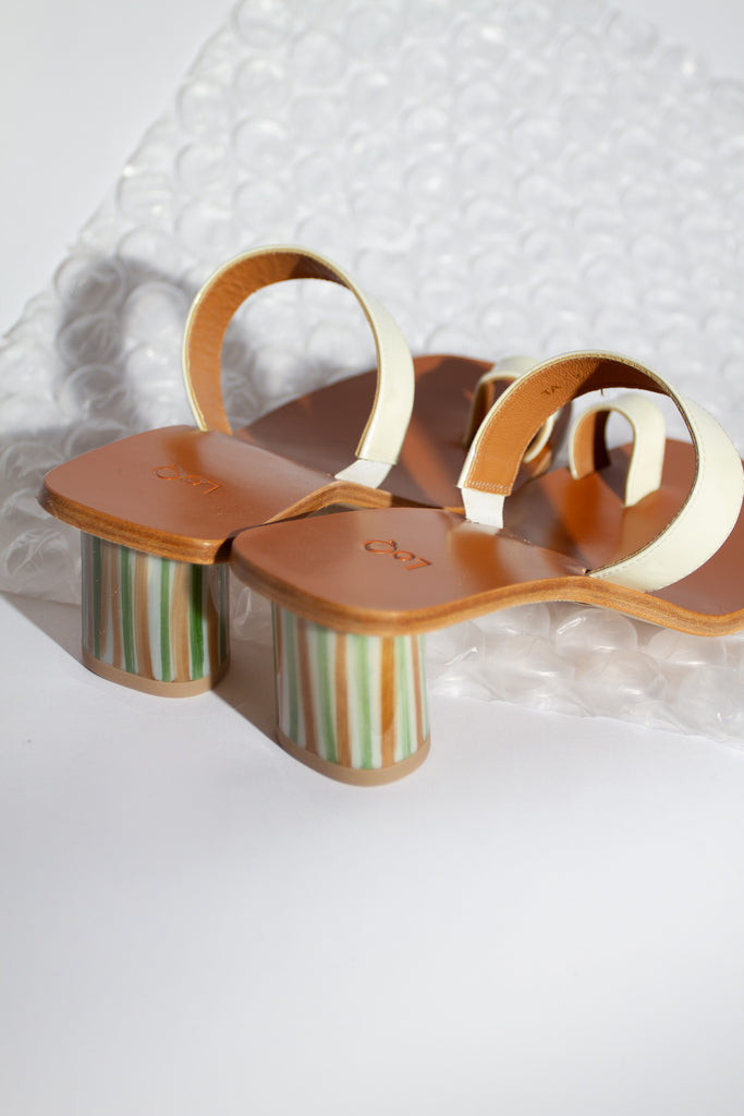 Tere Patent Leather Sandal - Brie