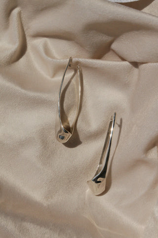 Frond Hoops - Sterling Silver