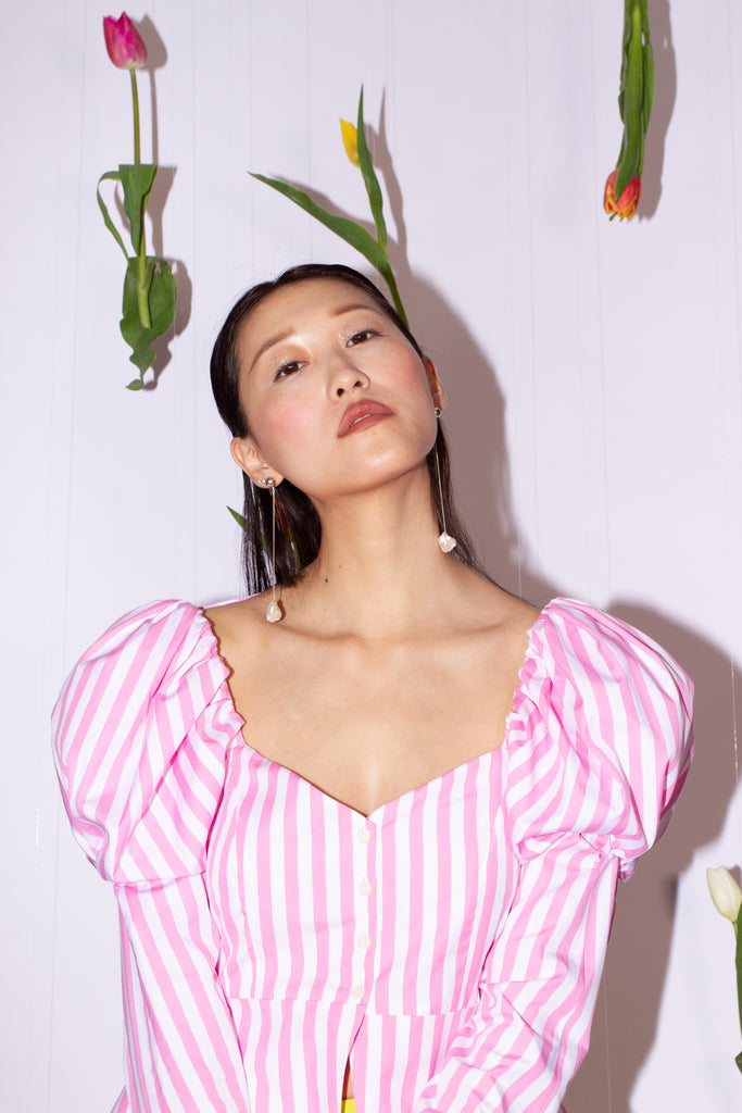 Penelope Top - Pink Stripe