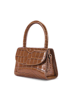 Mini - Tan Croco Embossed Leather