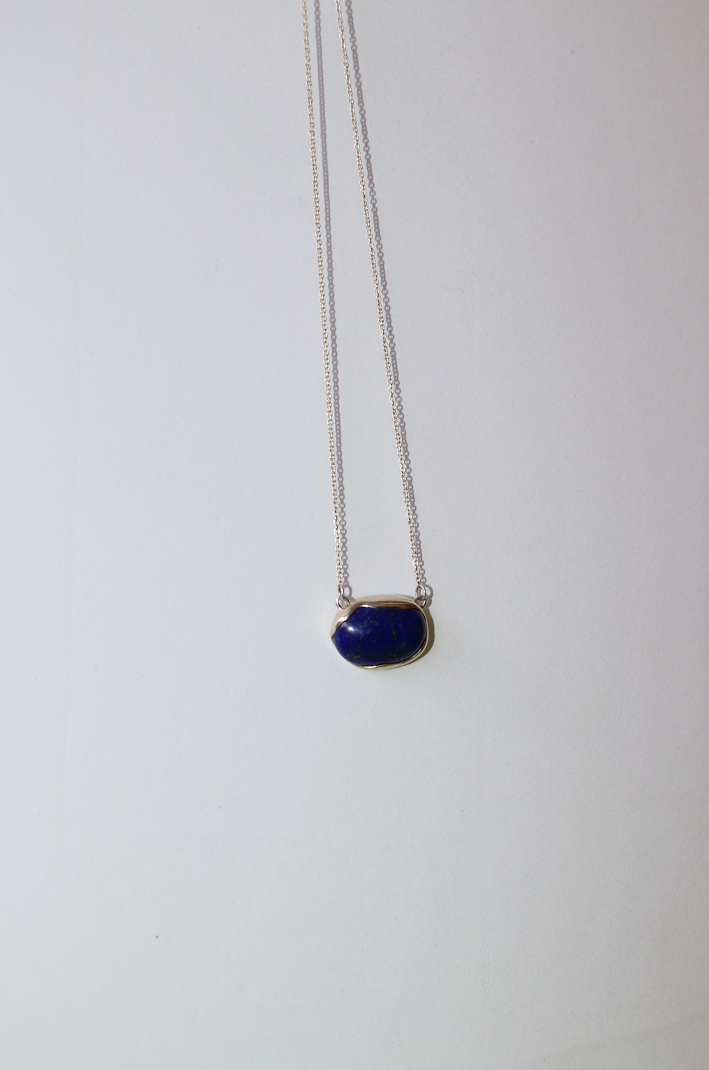 OVO Necklace - Sterling Silver / Lapis