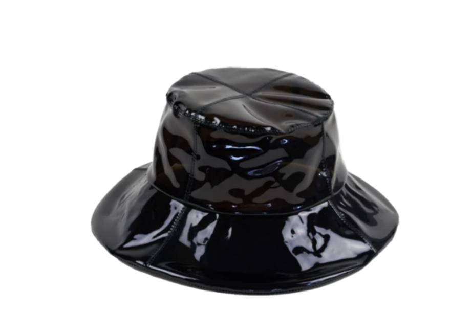 Rain Hat - Black Patent