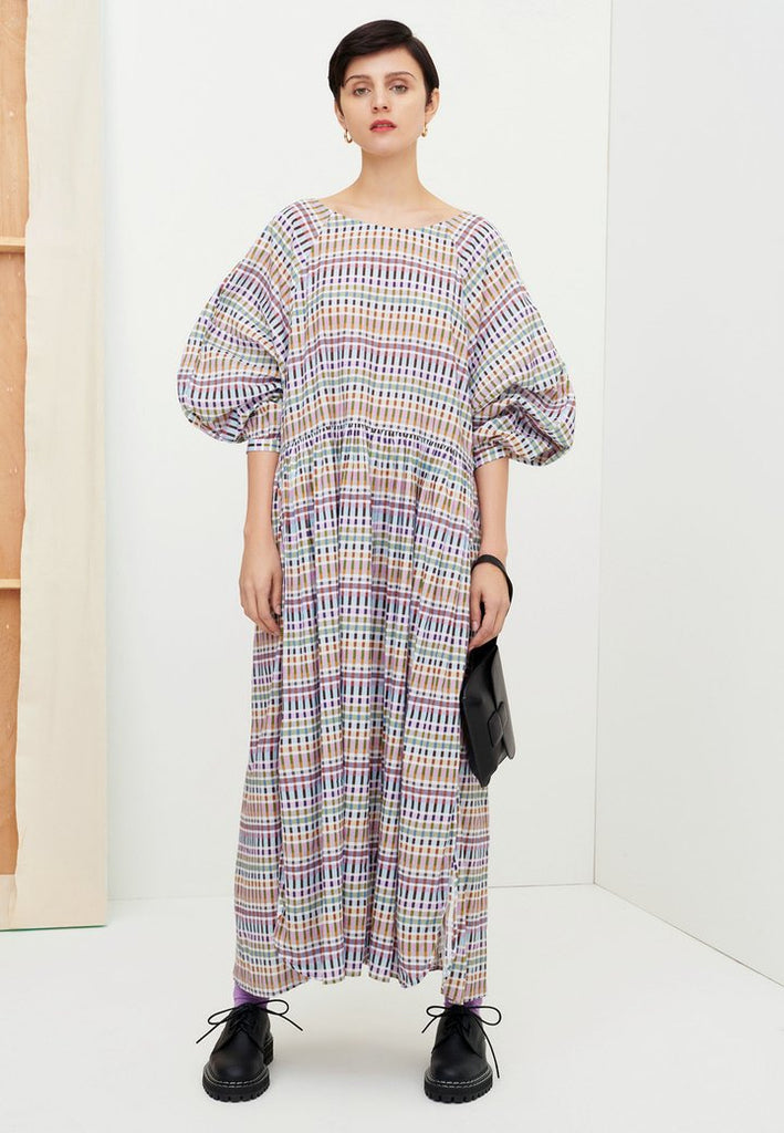 Kowtow Atlas Dress in Palette. Available at EASE Toronto.