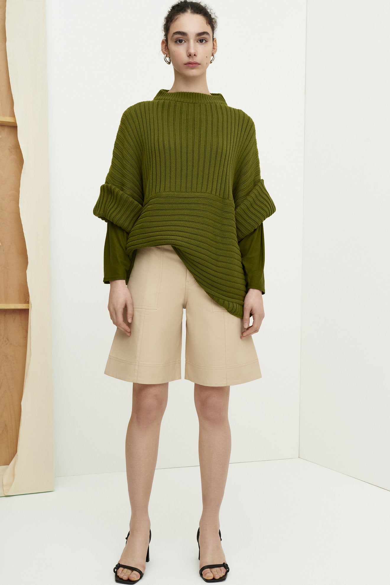 Kowtow Direction Sweater in Willow. Available at EASE Toronto.
