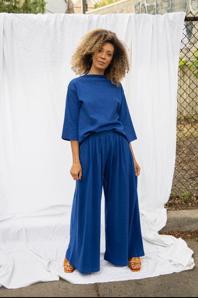 Drape Pant - Electric Blue