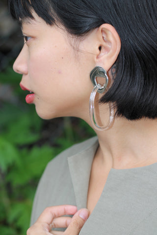 c9066e6fc Leigh Miller. $310 · Glass and White Bronze Kinetic Hoops Glass and White  Bronze Kinetic Hoops