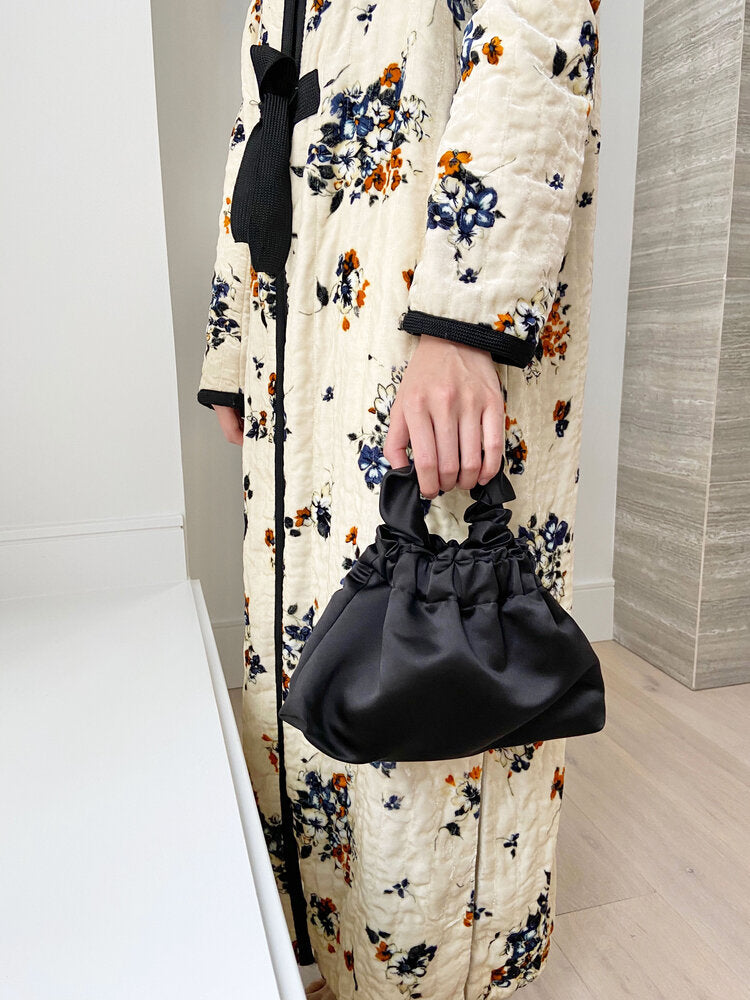 Bronze Age Halo Scrunchie Bag in Black. Available at EASE Toronto.