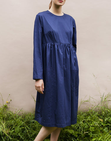 Empire Dress - Navy