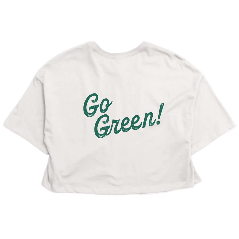 Go Green Retro Crop
