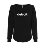 Black Detroit Crewneck Sweatshirt