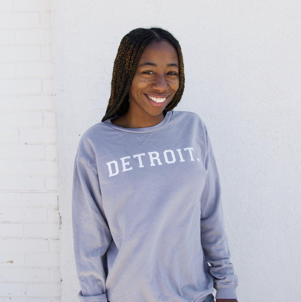 Detroit Dove Grey French Terry Crew