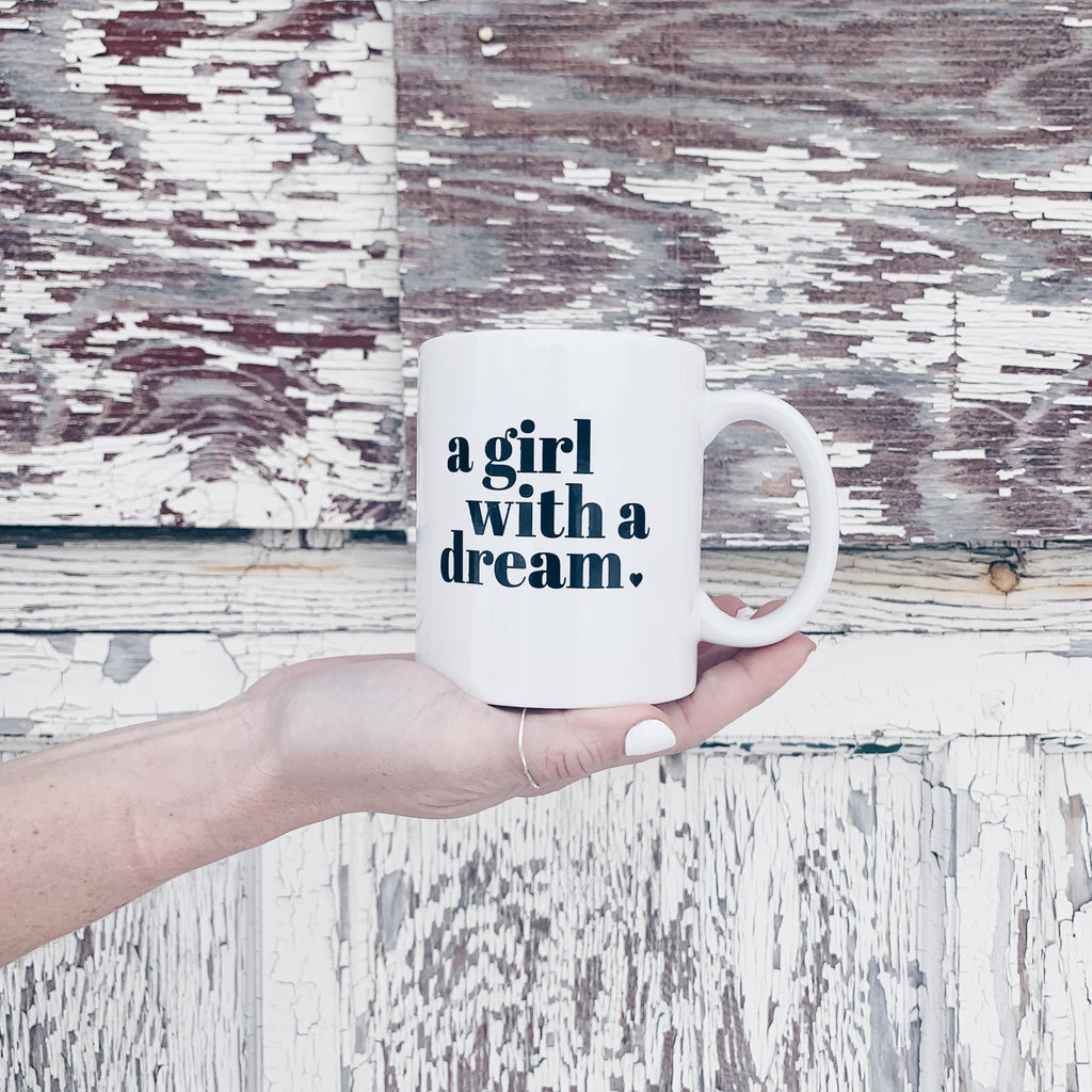 GIRL WITH A DREAM MUG