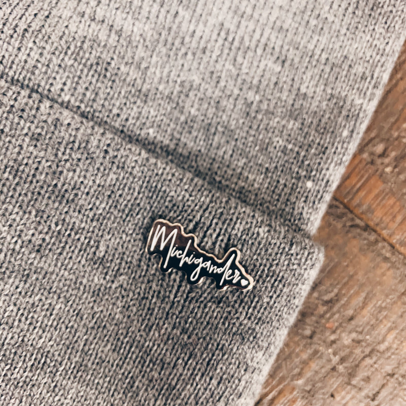 Detroit OR Michigander Enamel Pin