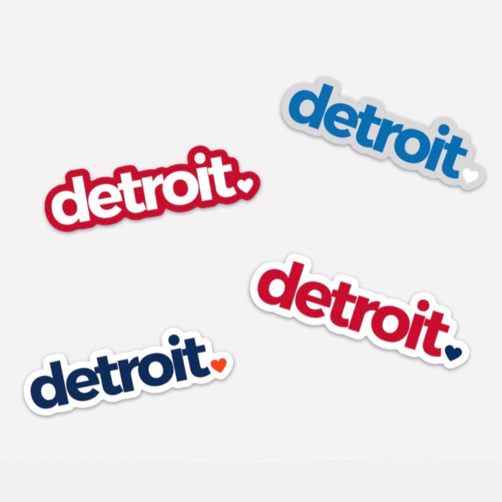 Detroit Game Day Stickers