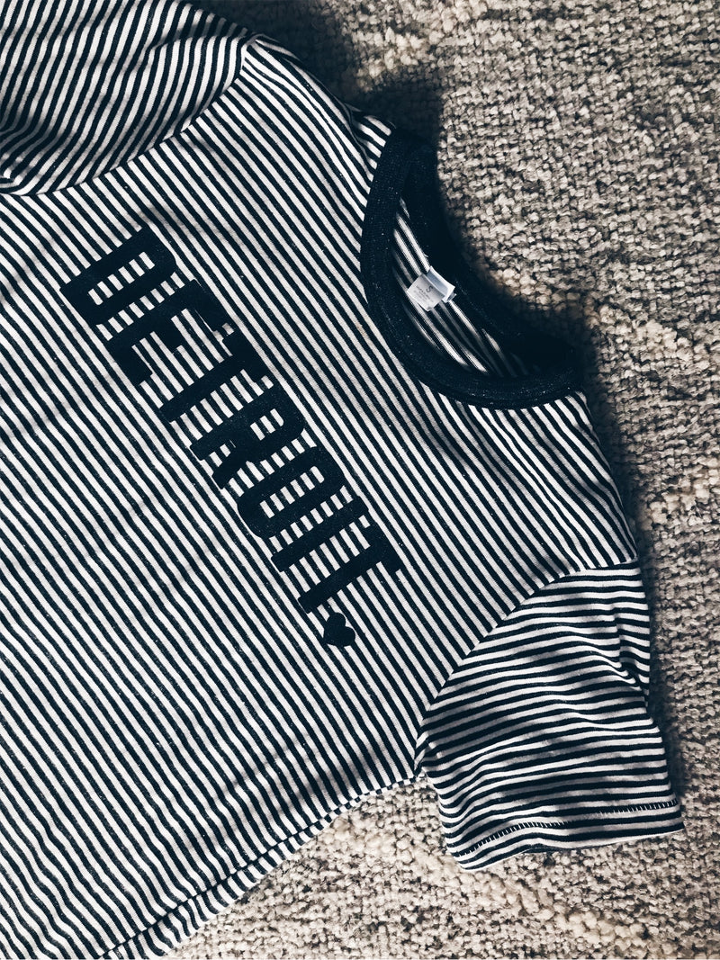 Black Detroit Stripe Tee