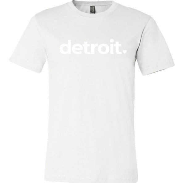 DETROIT WHITE ON WHITE T-SHIRT (EXTRA)