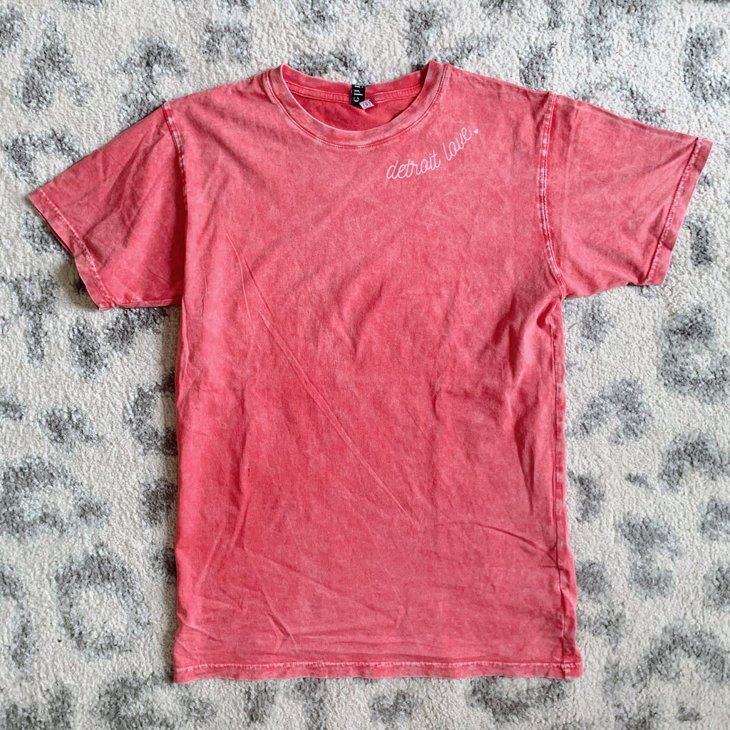 Detroit Love Vintage Red Tee