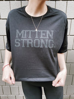 Mitten Strong Oversized Cropped Tee
