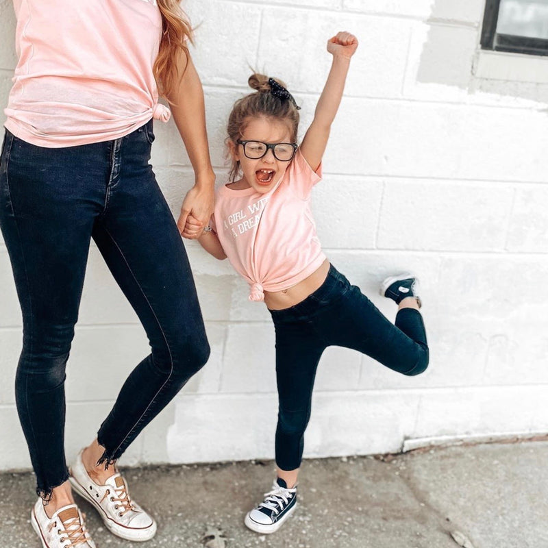 A Girl With A Dream Pink Mommy + Me Tee