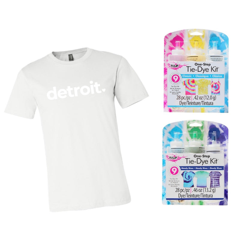 DETROIT T-SHIRT TIE DYE KITS