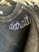 Detroit Embroidered Corded Crew