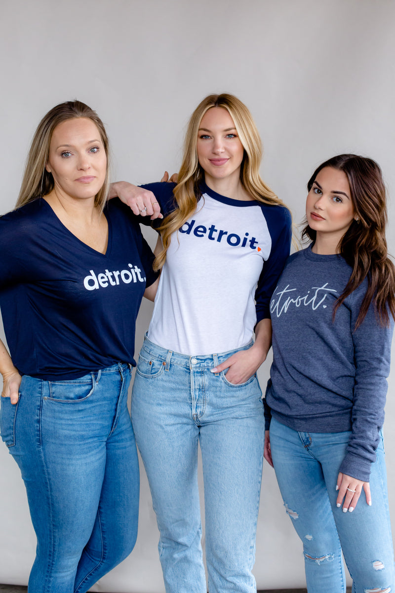 Detroit Baseball 3/4 Sleeve Shirt