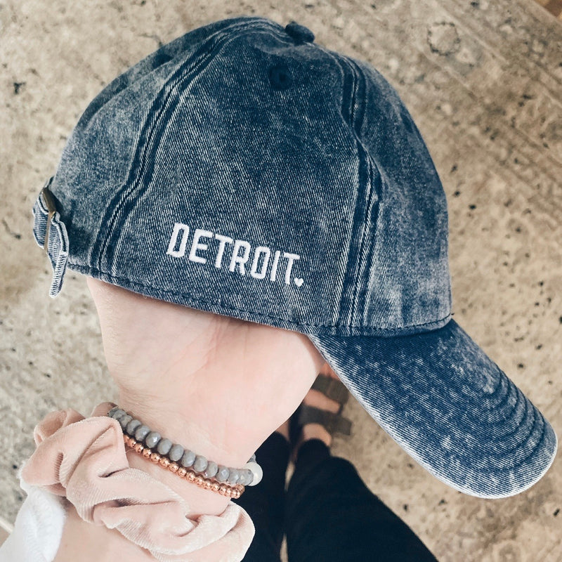 Detroit Embroidered Denim Hat