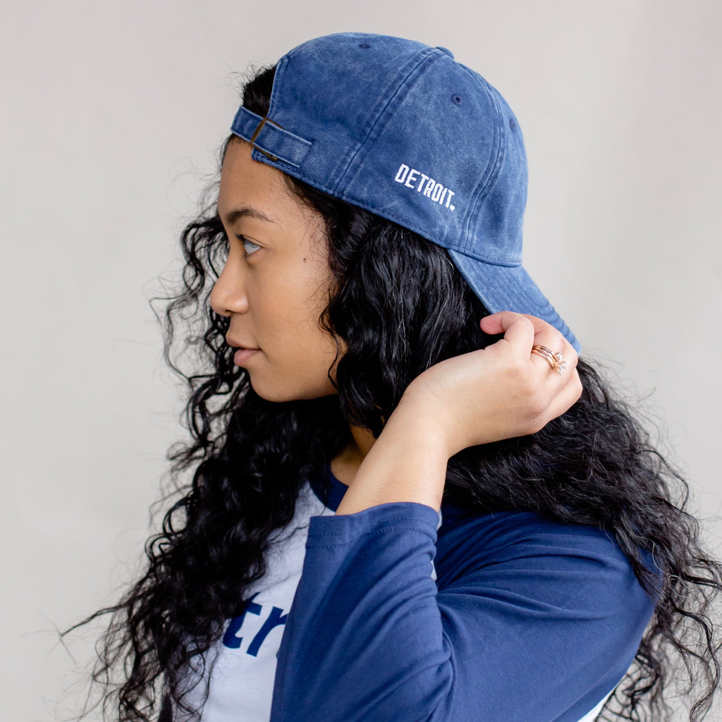 Embroidered Denim Hat