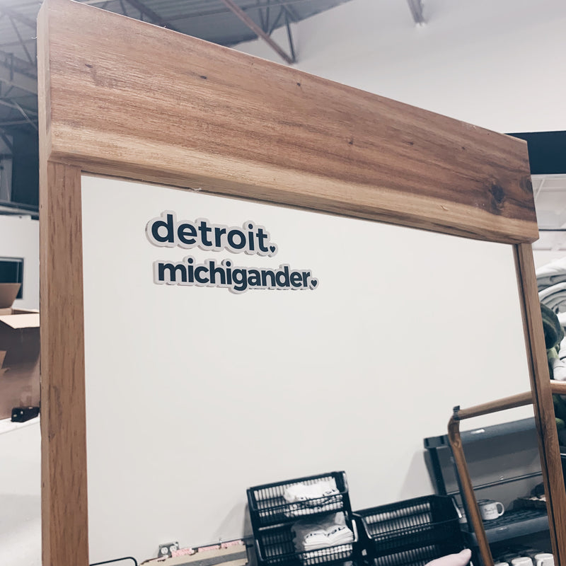 Detroit + Michigander Mini Static Cling