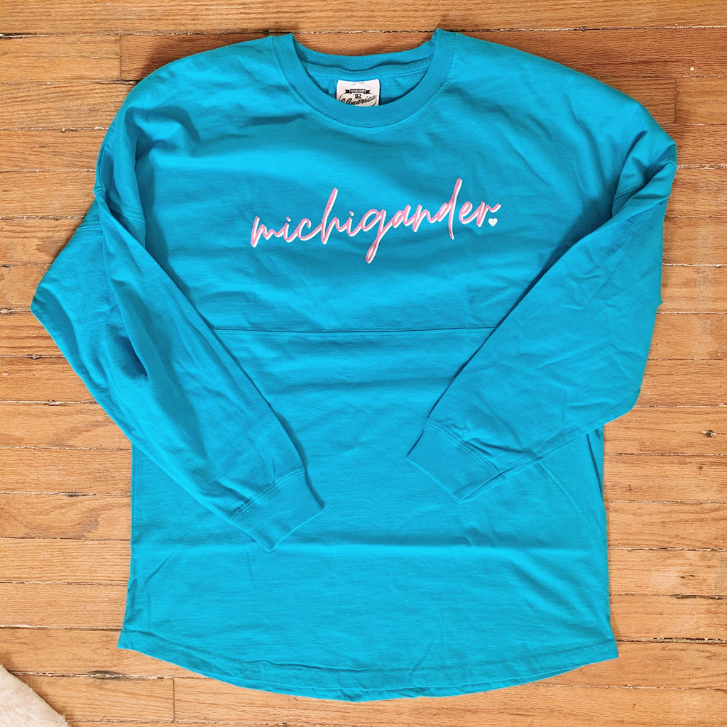 Michigander Caribbean Blue Long Sleeve