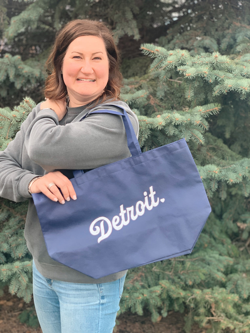 Detroit Retro Baseball Tote
