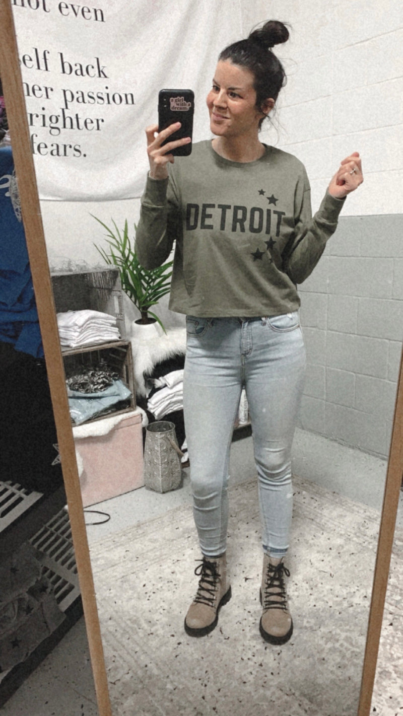 Detroit Stars Long Sleeve Crop Tee
