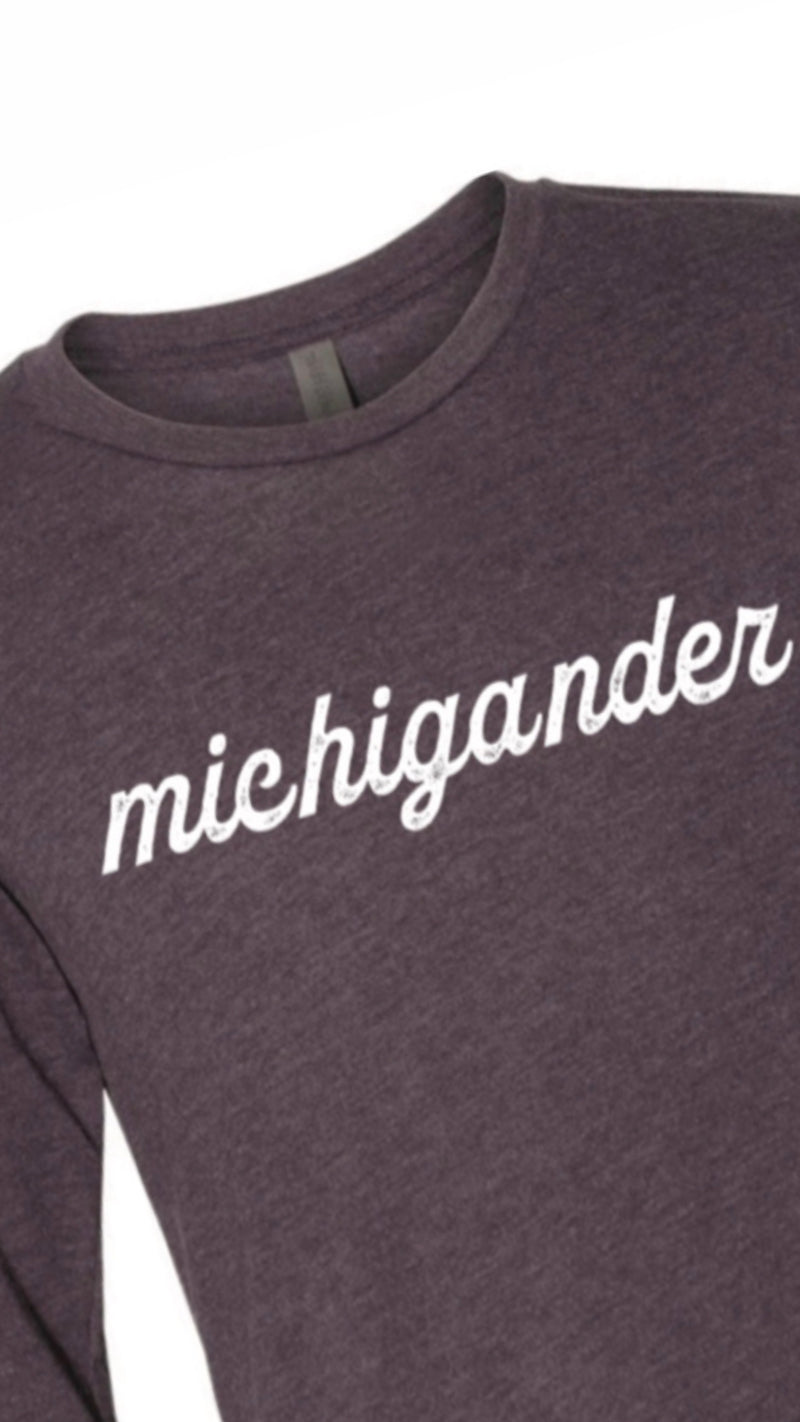 Michigander Vintage Purple Long Sleeve Tee