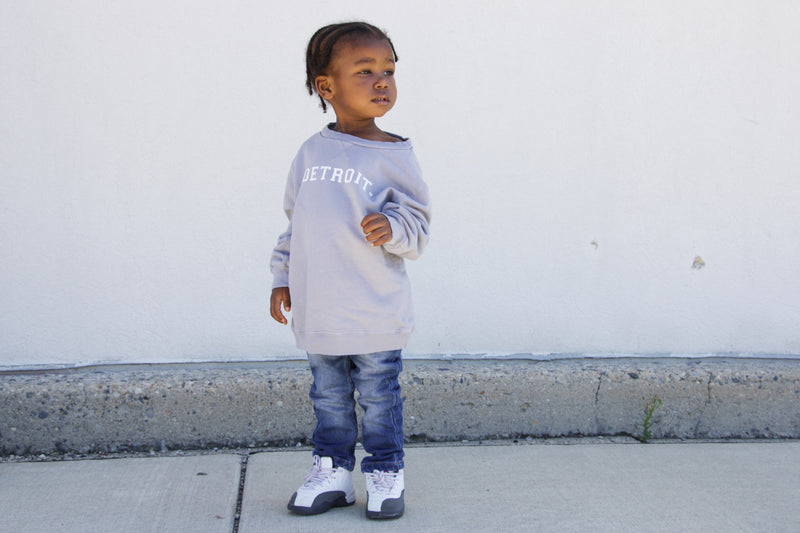 Toddler Detroit Dove Grey French Terry Crew