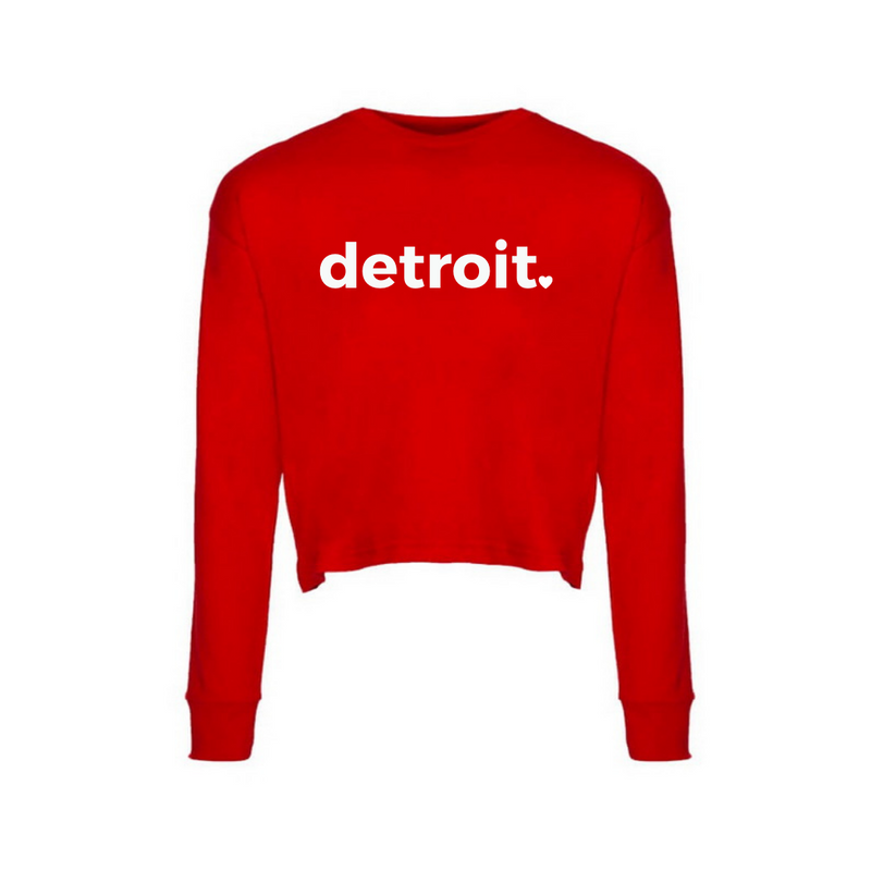 Detroit Red Long Sleeve Crop