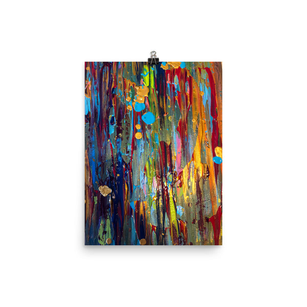 Dripped in Chaos Poster - A Royal Masterpiece | Abstract Art