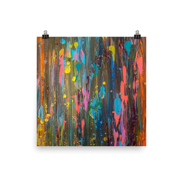 Vibrant Chaos Poster - A Royal Masterpiece | Abstract Art