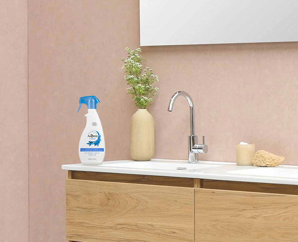 Bathroom cleaner and sink