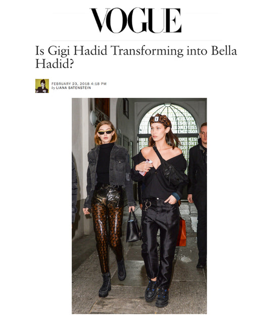Gigi Hadid in iRi Black Nubuck Boot in Paris as seen on Vogue