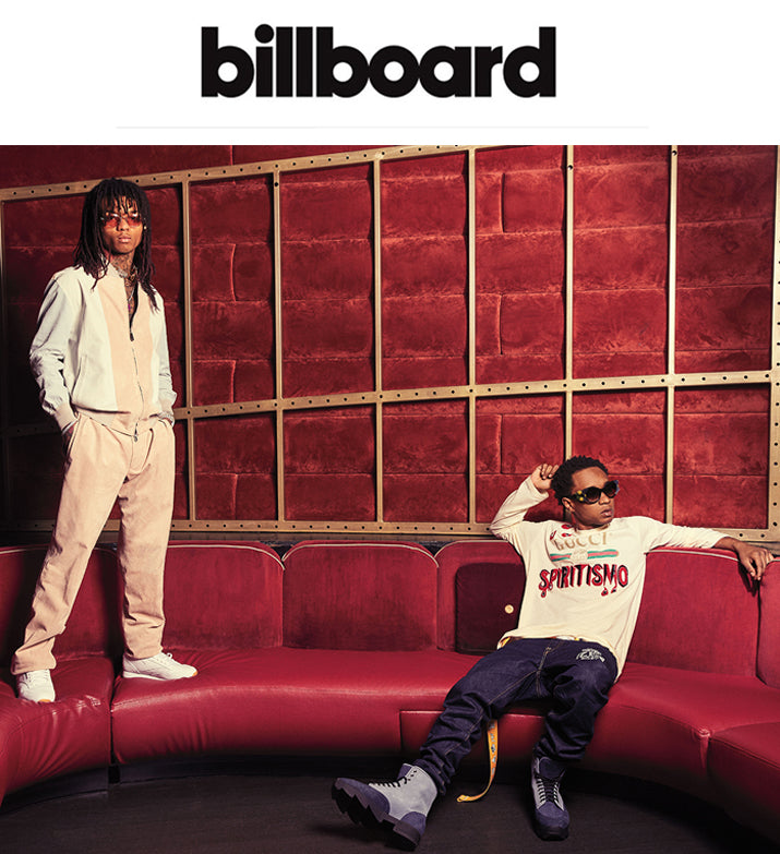 APR 12, 2018 | iRi Grey Nubuck Boot on Slim Jxmmi / Rae Sremmurd in Billboard