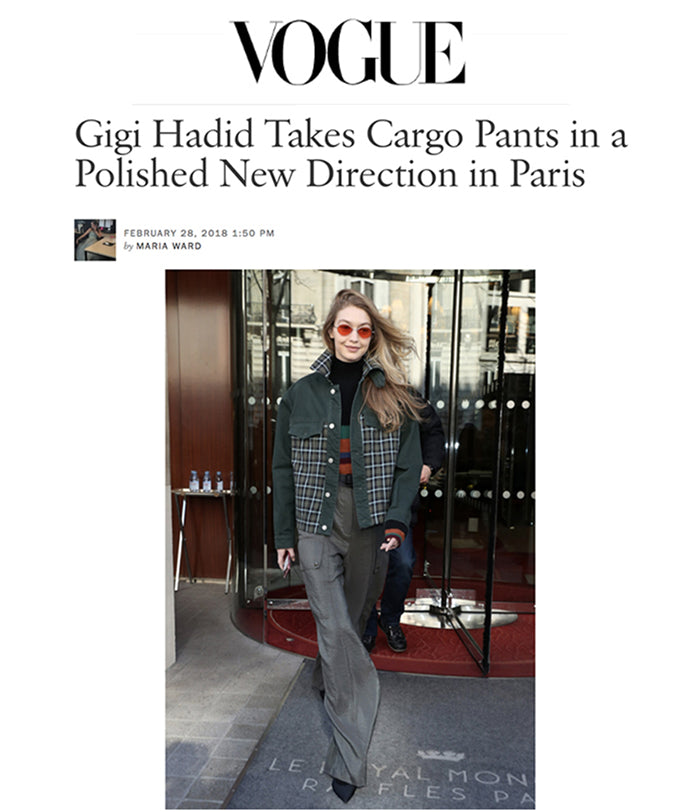 FEB 28, 2018 | Gigi Hadid in iRi Black Neoprene Pump in Paris as seen on Vogue