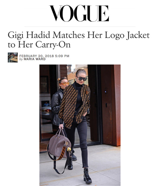 Gigi Hadid in iRi Black Patent Leather Boot in New York as seen on Vogue