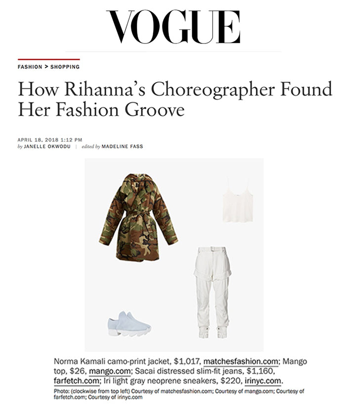 APR 23, 2018 | iRi Neoprene Sneaker in Vogue Article