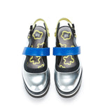Silver Leather Sandal -  $387