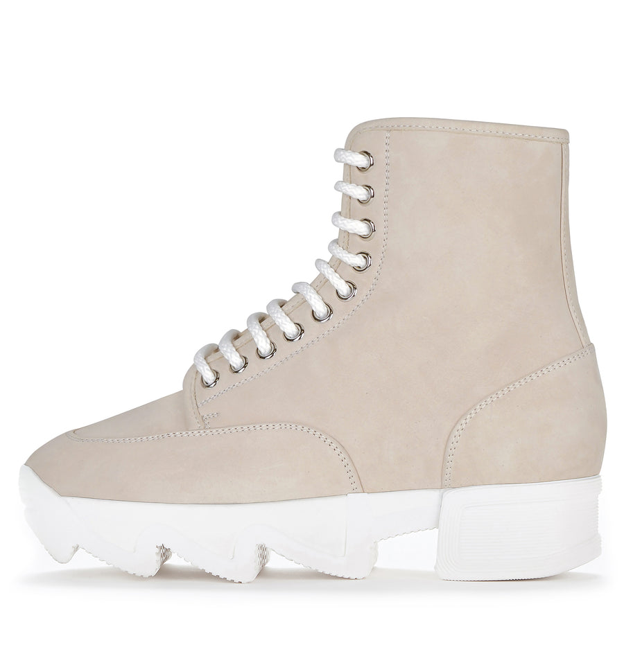 Unisex Nude Nubuck Leather Boot