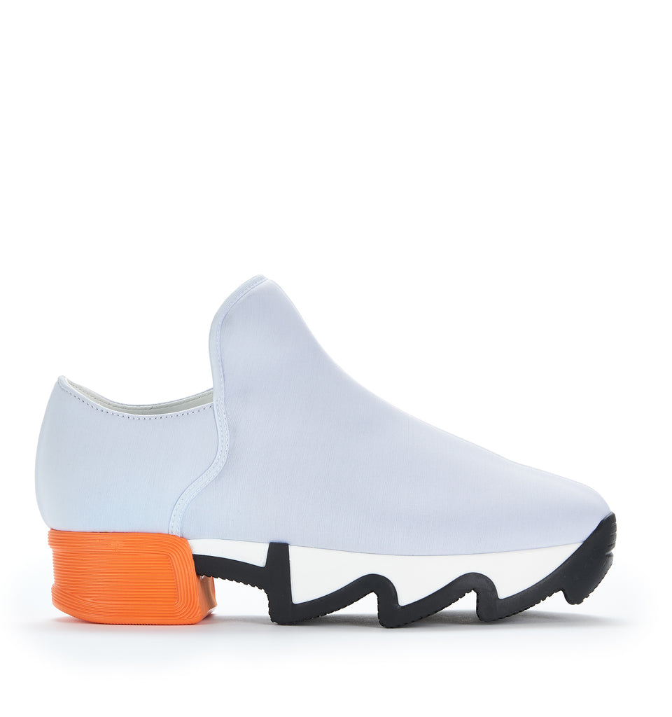 Unisex Light Grey Orange Neoprene Sneaker