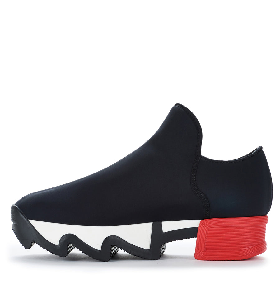 Unisex Black Red Neoprene Sneaker