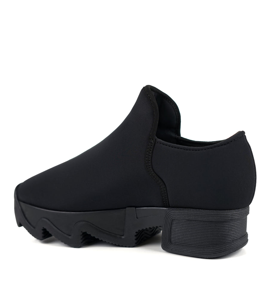 Unisex Black Neoprene Low Top Sneaker