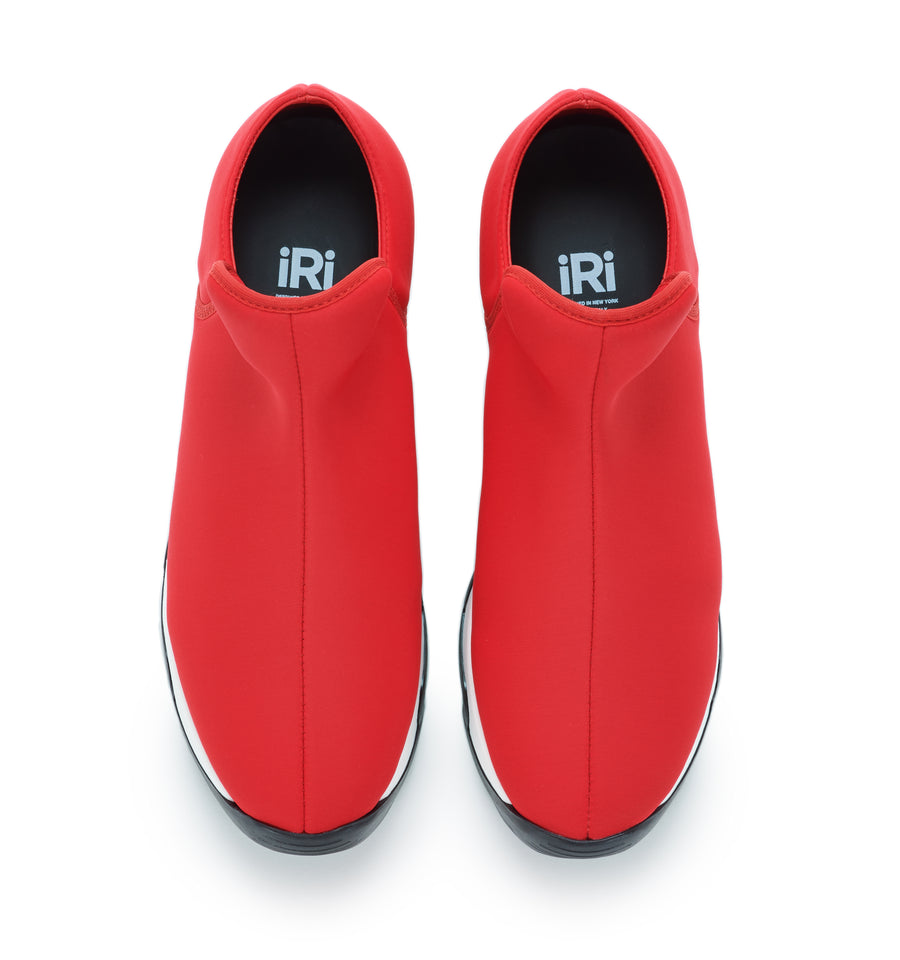 Unisex Red Neoprene Low Top Sneaker